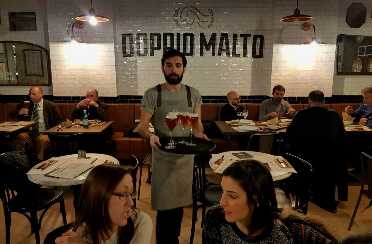 Doppio Malto in Rome, a new brew restaurant near the Trevi fountain