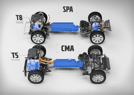 T5 Twin Engine on CMA and T8 Twin Engine AWD on SPA