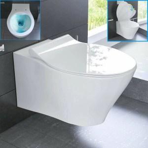 Test Hänge WC Spülrandlos