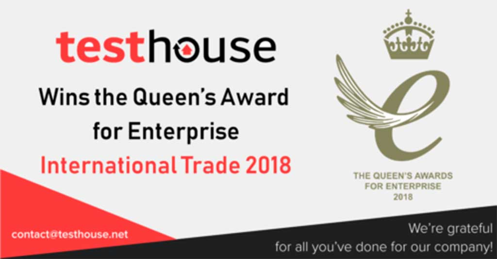 Testhouse Wins the Queen's Award for Enterprise, 2018