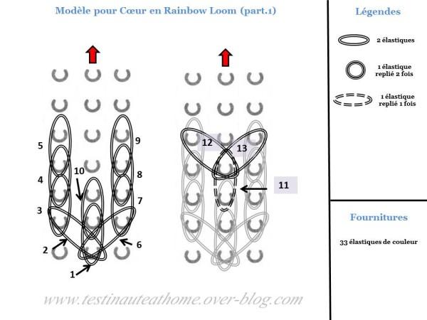 Comment faire un cœur en élastique (#rainbowloom