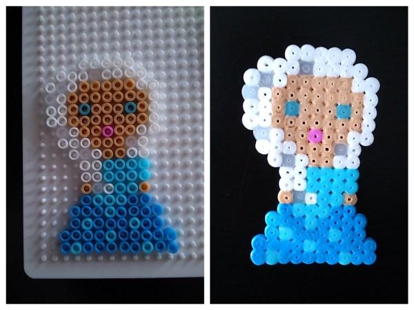 Reine des neiges Elsa en perles à repasser