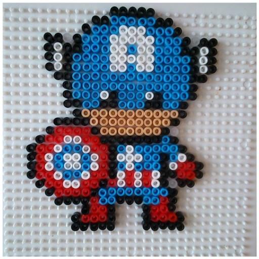 Super héros captain America perle hama