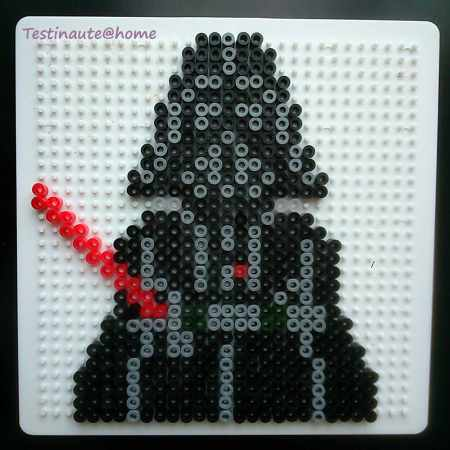 Dark vador star wars Hama beads pattern