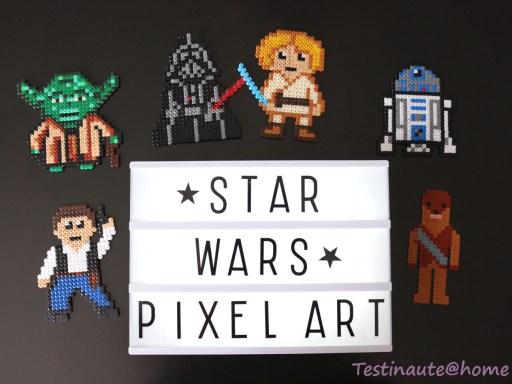 Personnages Star war en perles à repasser Hama pixel art