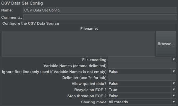 Config Element in JMeter