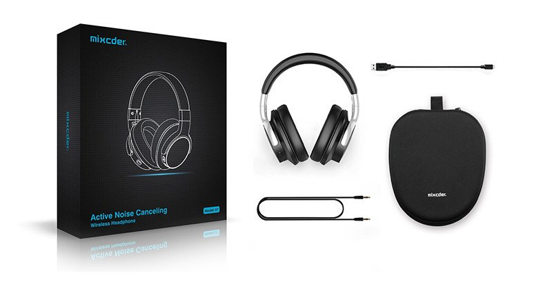 Mixcder E7 Auriculares Bluetooth con reducción de ruido activa sobre el oído