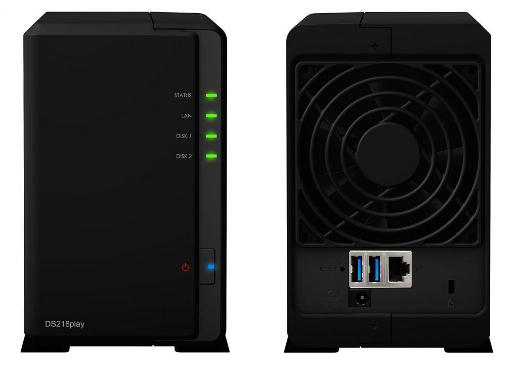 Synology NAS Server ds218play: anverso y reverso