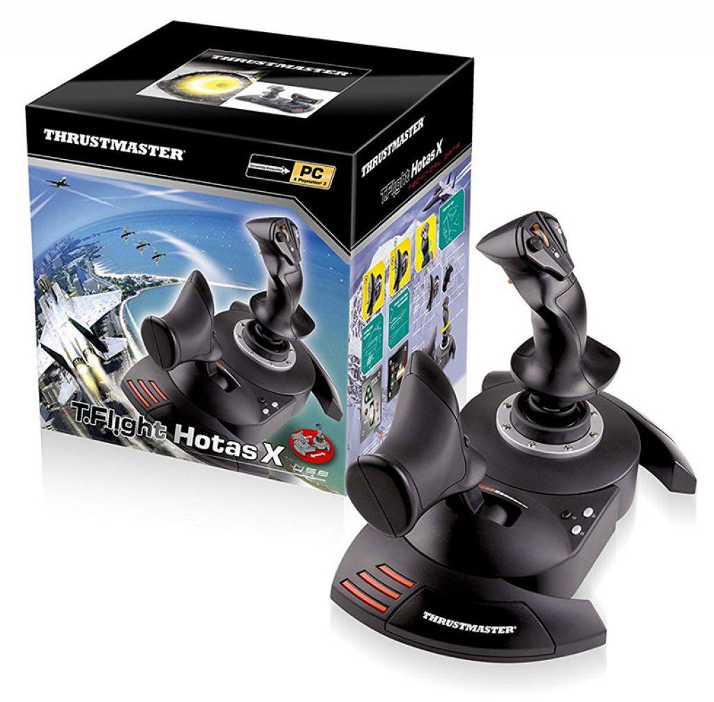 ThrustMaster - Joystick T.Flight Hotas X - Configuración directa del joystick del acelerador desmontable despegue inmediato