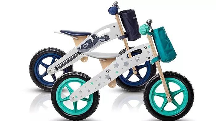 Bicicleta de equilibrio Runner Stars Bicicleta de madera verde sin pedales ecológicos Aprendizaje