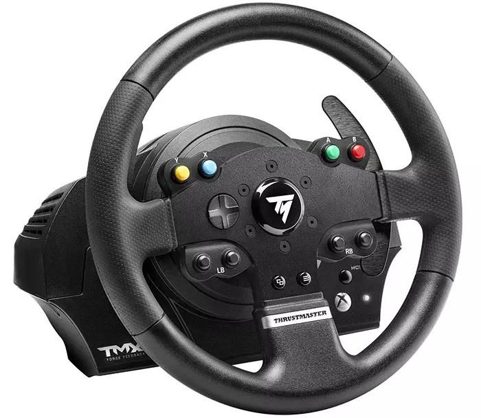 ThrustMaster - Volante TMX Pro + Juego de bielas - Precisión extrema en carreras
