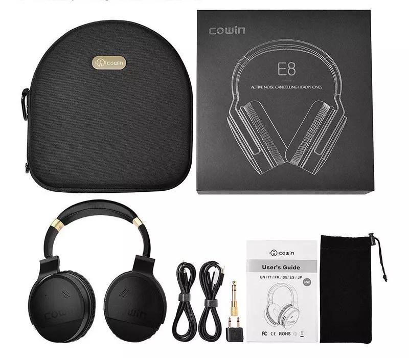 Auriculares inalámbricos Bluetooth COWIN E8 Auriculares con reducción de ruido activa Auriculares con micrófono Hi-FI Bass Deep Stereo Audio