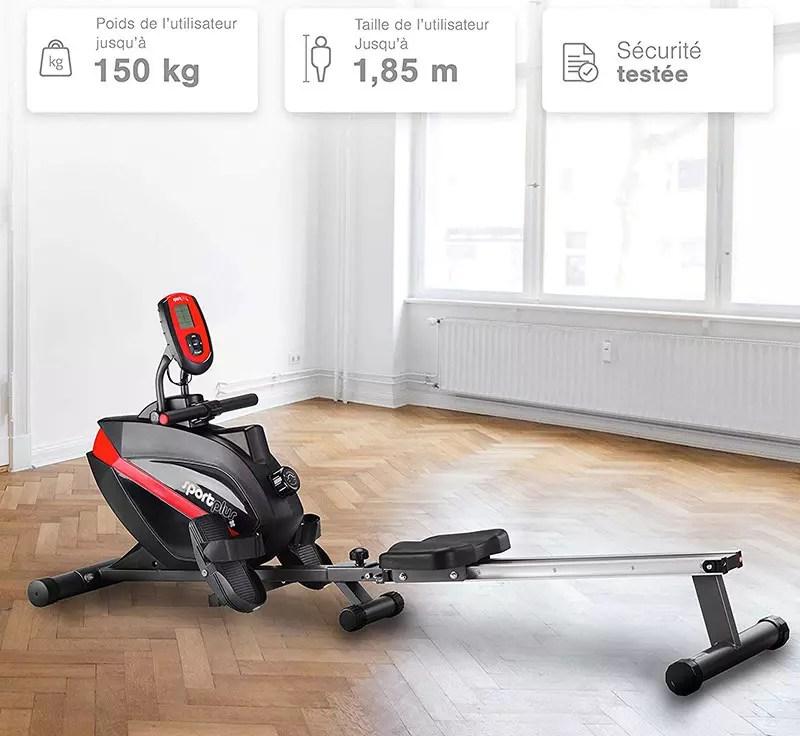 SportPlus - Rower - Sistema de frenado magnético