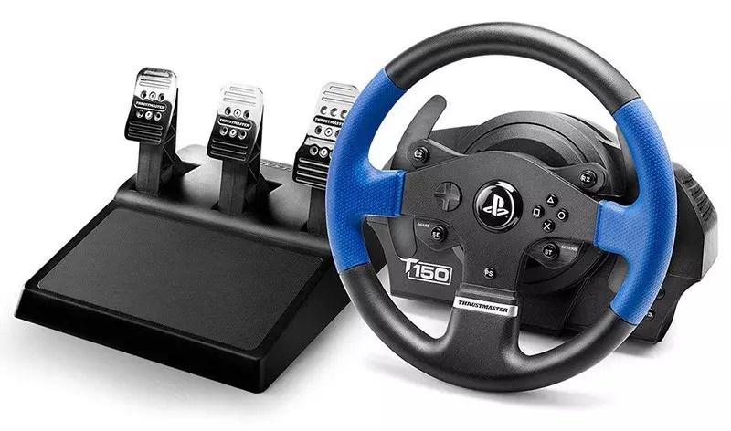 Thrustmaster T150 Pro Force Feedback - Volante PRO Racing para PC PS4 PS3 Compatible con bielas de 3 pedales