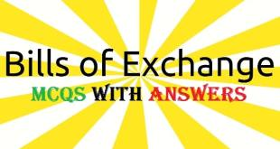 Bills of Exchange Mcqs With answers