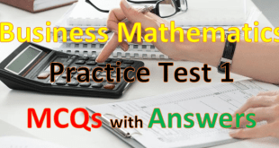 Business Mathematics Mcqs with Answers 1