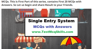 Single Entry System mcqs with answers