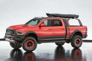 The Ram Macho Power Wagon is a bold take on the Power Wagon's reputation for off-road capability with added versatility delivered by Mopar concept and production products.