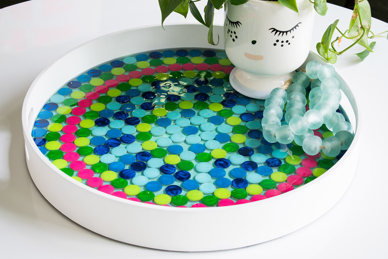 diy penny tile mosaic tray