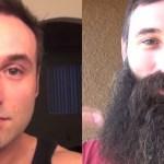 Este cara ficou 1 ano sem fazer a barba e registrou tudo em vídeo