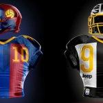 Como seriam os uniformes dos times de futebol se eles jogassem na NFL