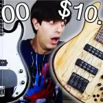 Vídeo mostra a diferença no som de um baixo de 100 dólares, e um de 10,000 dólares
