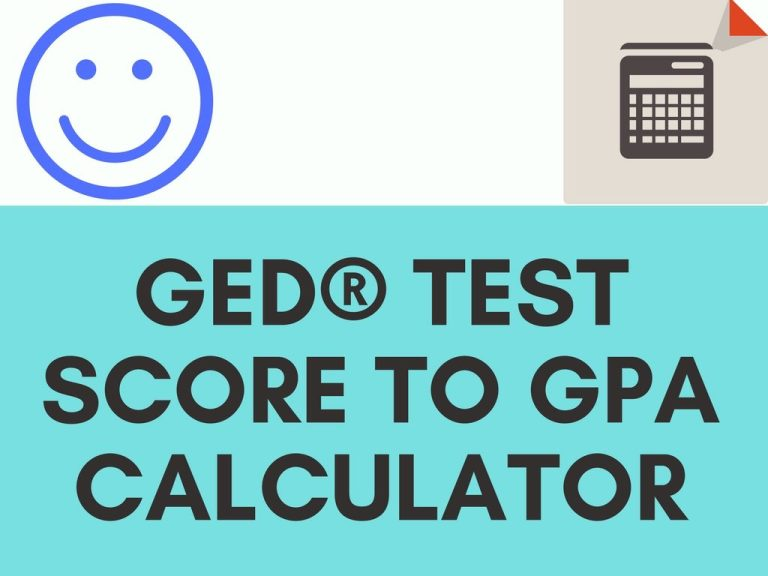 GED test score to gpa calculator