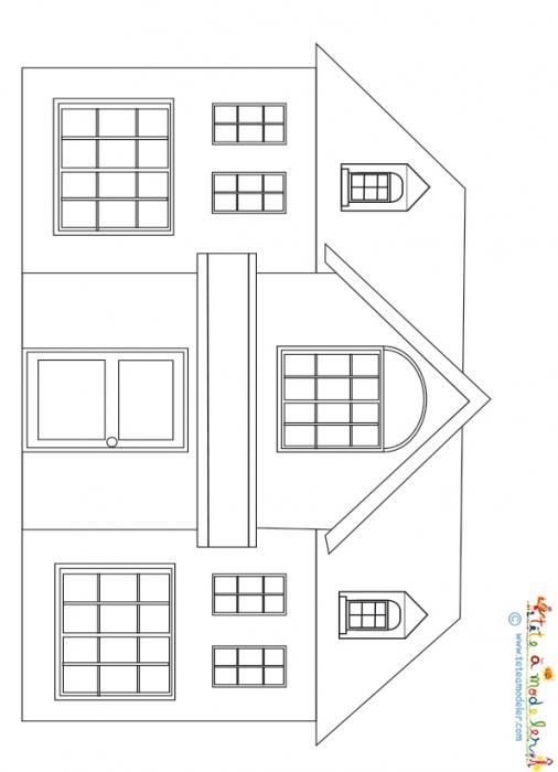 Dessin D Une Maison A Imprimer Tete A Modeler