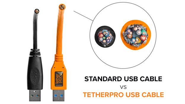 TetherPro cables vs standard cables