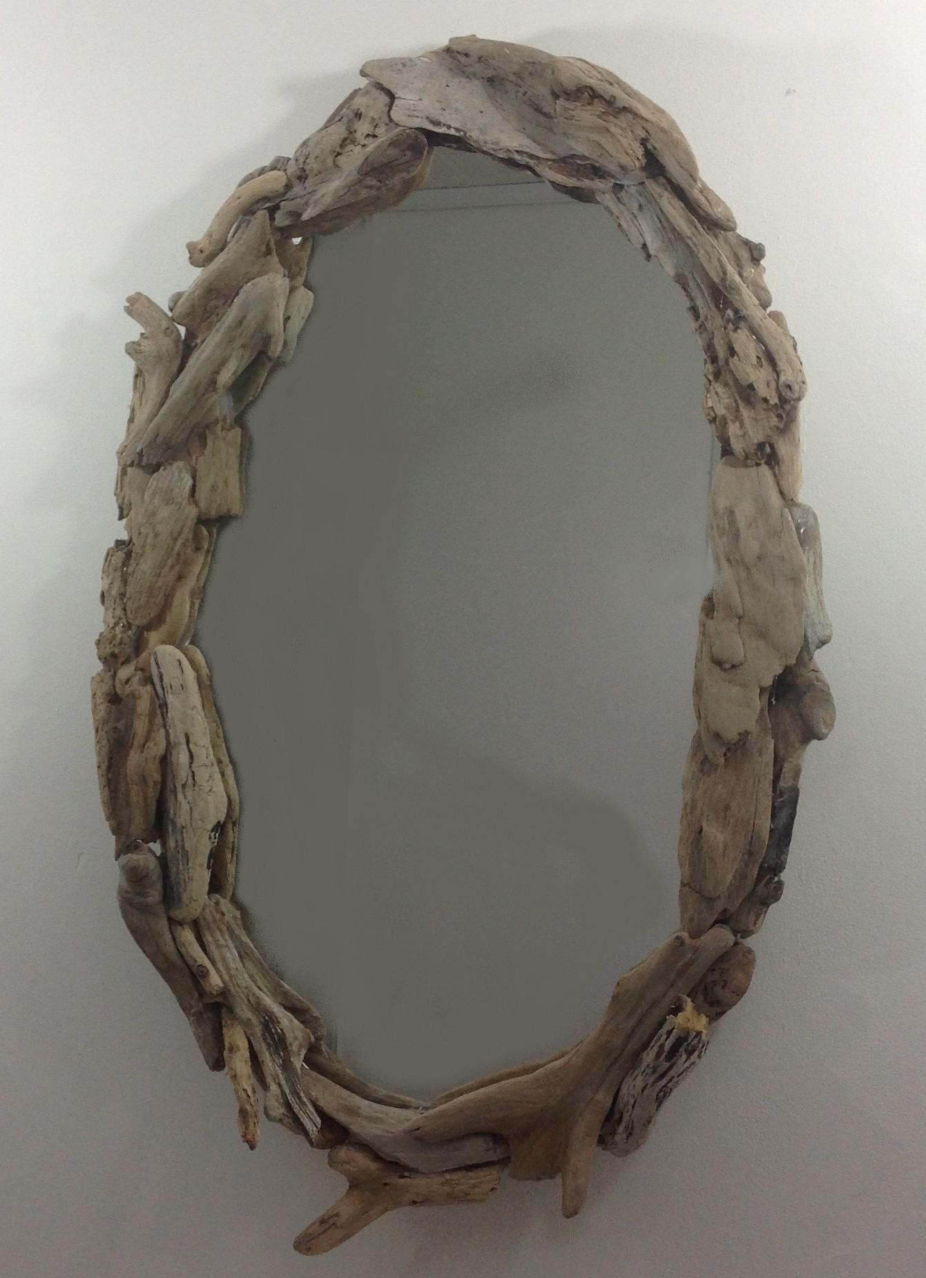 miroir ovale en bois flotte https www tethysart com