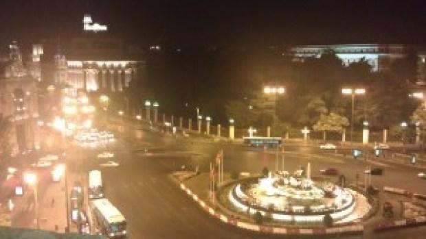 vistas desde la terraza del palacio de cibeles