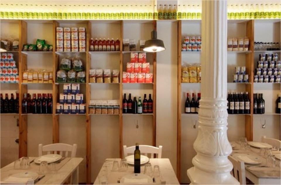 Restaurante griego Dionisos baldas del comedor