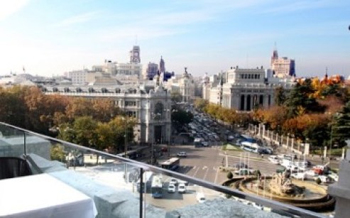 Terraza restaurante Palacio de Cibeles Te Veo en Madrid