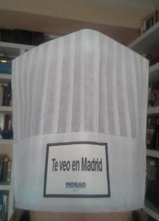 Gorro de cocinero de Morao Tapas Te Veo en Madrid