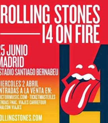Cartel concierto Rollings stones Madrid 2014