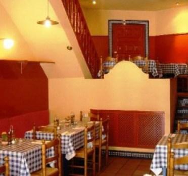 Restaurante El Estragón vegetariano foto del propietario comedor  Te Veo en Madrid