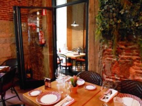 Restaurante La entretenida detalle comedor Te Veo en Madrid