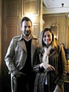 Con Carlos Copertone en Galeria Cuarta Pared A·Bandas Te Veo en Madrid