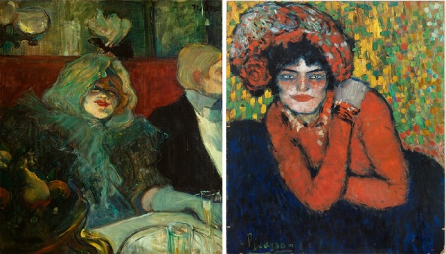 Diálogo entre las obras de Toluse Lautrec y Picasso en el museo Thyssen