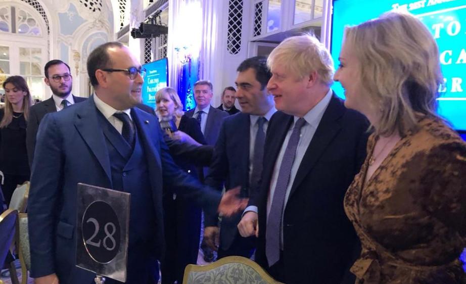 Maurizio Bragagni e Boris Johnson
