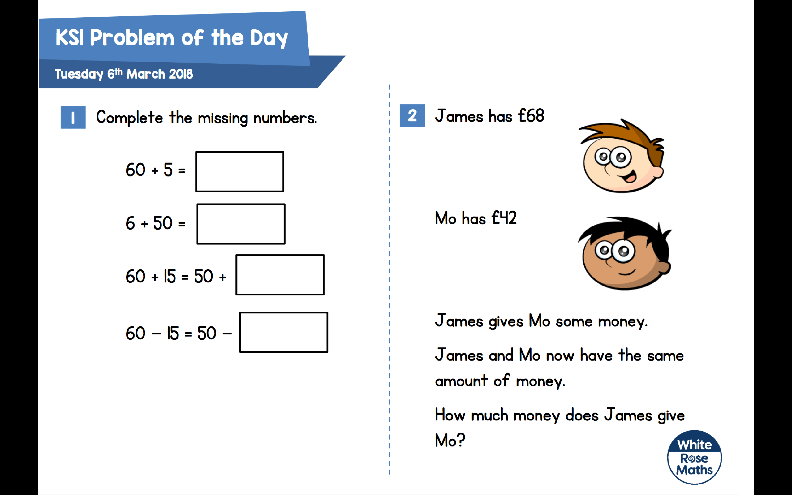 Daily Maths Problems Tewkesbury C Of E Primary