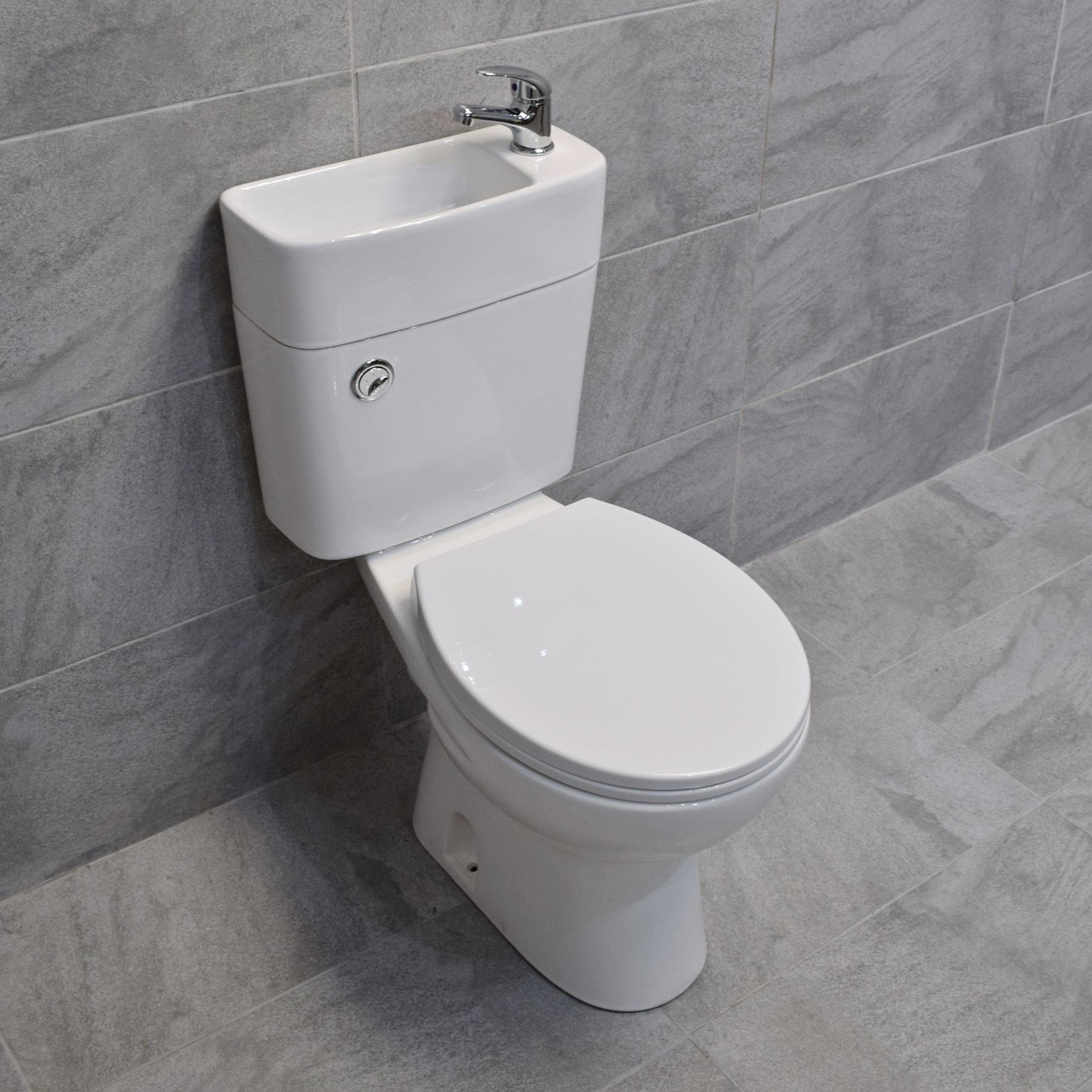 Duo Toilet Basin Combo Combined Toilet With Sink Tap Space Saving Cloakroom Unit Ebay