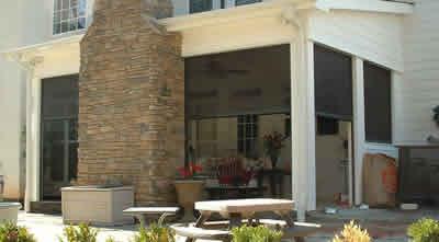 Motorized retractable screens, patio shades Spring TX
