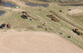 ...a herd of tractors...
