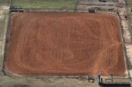...a red dirt corral...