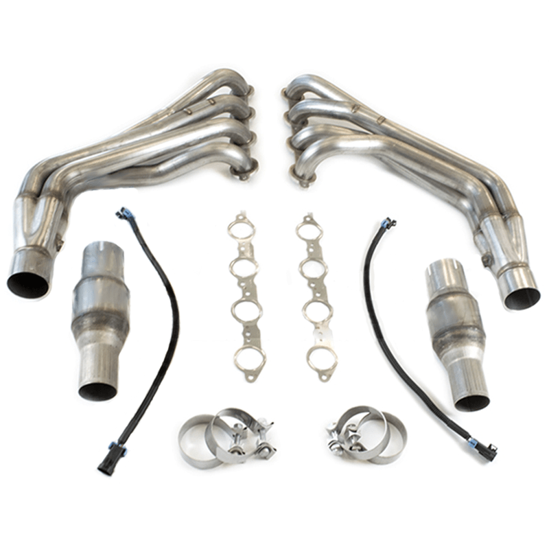 tsp 2010 camaro ss zl1 1 7 8 long tube headers catted connection pipes w exhaust manifold gaskets stainless steel