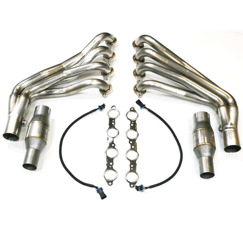 tsp 2010 camaro ss zl1 1 7 8 long tube headers off road connection pipes w exhaust manifold gaskets 304 stainless steel