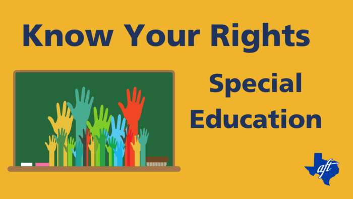 """Text says, """"Know Your Rights: Special Education"""""""