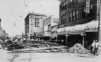 Corpus Christi after 1919 hurricane.