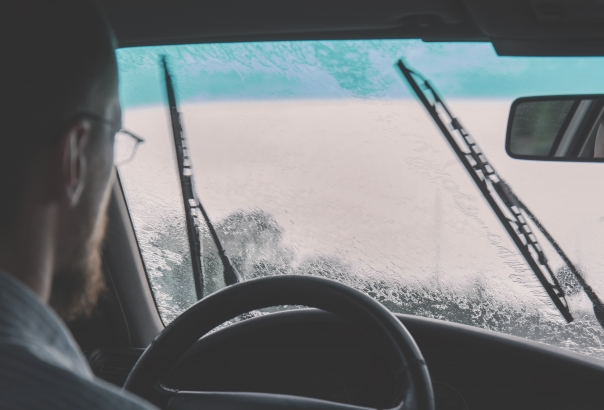 driving heavy rain windshield wipers